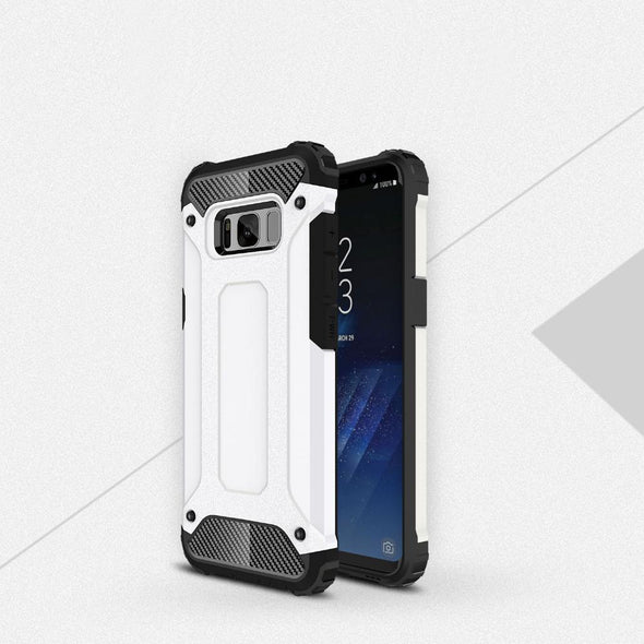 Rugged Armor Case for Samsung Galaxy White / Galaxy S8