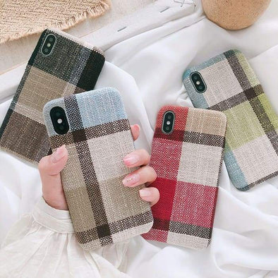 Symmetry Cloth Texture Case for iPhone