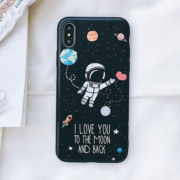 To the Moon and Back Case for iPhone Fly Me to the Moon / iPhone X