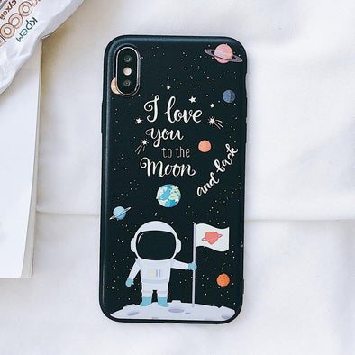 To the Moon and Back Case for iPhone Moon Landing / iPhone X