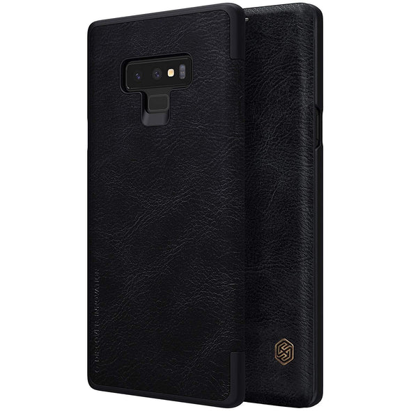 Vegan Leather Flip Case for Galaxy Note 9 Black