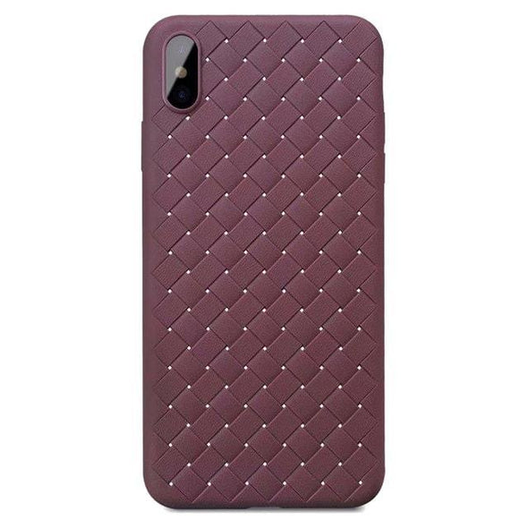 Weaving Pattern Case for iPhone Burgundy / iPhone 7 Plus