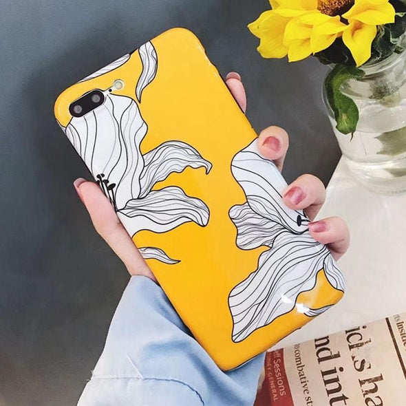 White Lilies Floral Case for iPhone