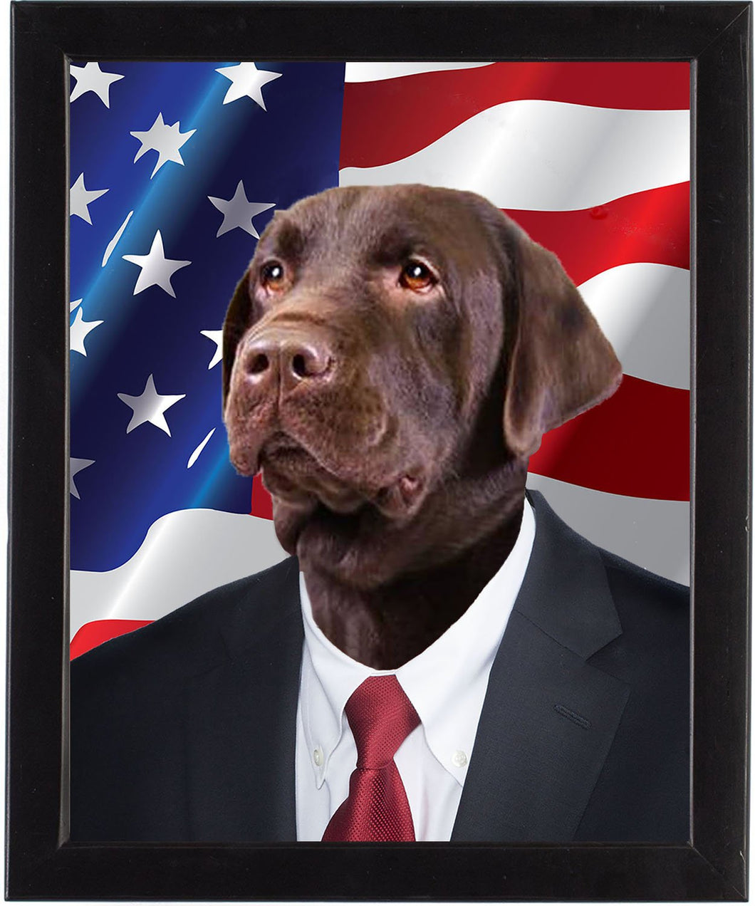 The Candidate _  8x10 framed dog portrait