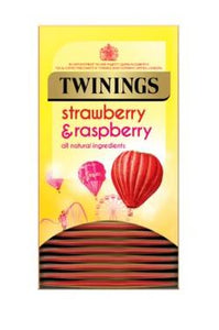 Twinings Strawberry & Raspberry Envelope Teabags 20s