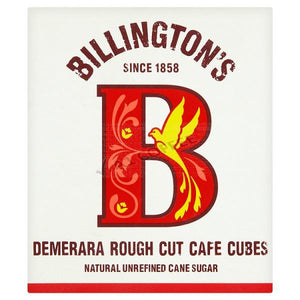 Billington's Demerara Rough Cut Cafe Sugar Cubes 750 g