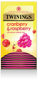 Twinings Cranberry & Raspberry Envelope Teabags 20s
