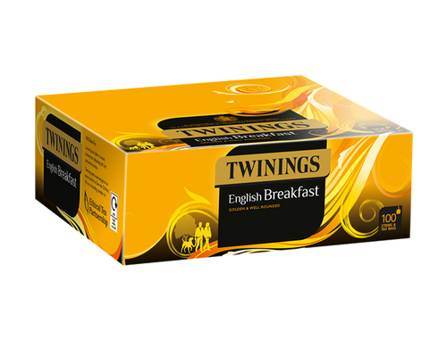 Twinings English Breakfast String & Tag Teabags 100s