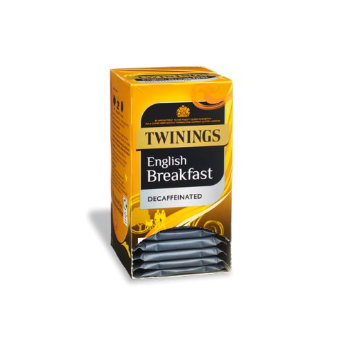 Twinings English Breakfast Decafffeinated Envelope Teabags 20s