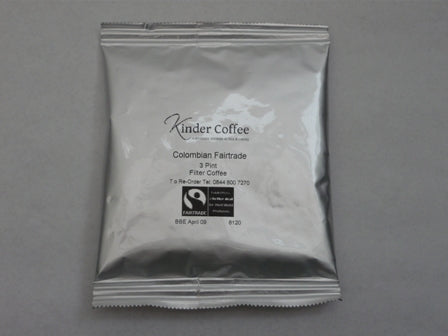 Kinder Fairtrade Colombian Filter Coffee 50 x 60 g