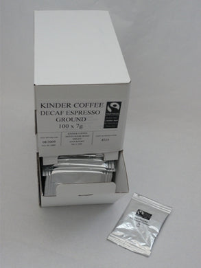 Kinder Fairtrade Decaff Espresso Ground Coffee One Shot 100 x 7 g