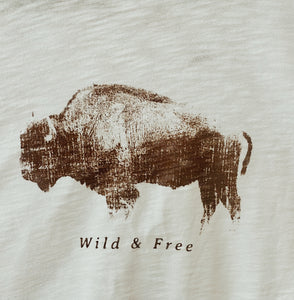 Fabulous Full Size Wild and Free Graphic Tee