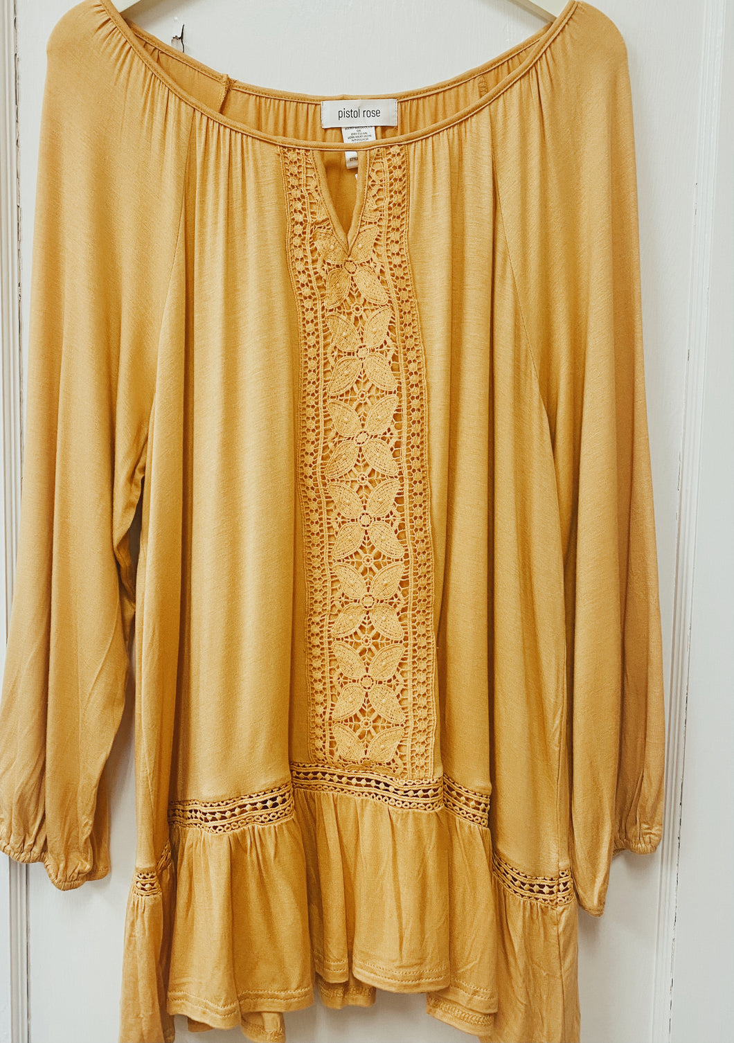 Fabulous Full Size Gracie Mustard Top