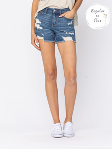 Judy Blue Mid-Rise Cut Off Shorts