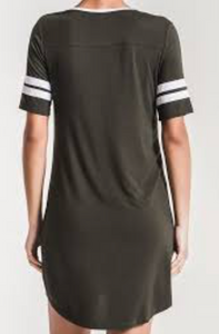 Baseball League Green T-Shirt Dress