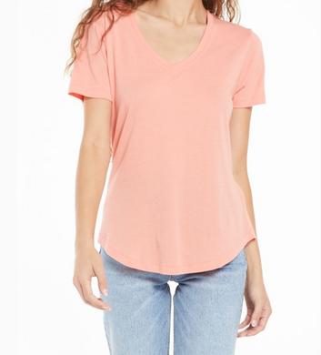 Z Supply Kasey Modal V-Neck Rose Tee
