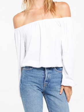 Z Supply Liv Slub off the Shoulder Top