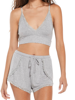 Z Supply Rose Lacie Lounge Grey Bralette