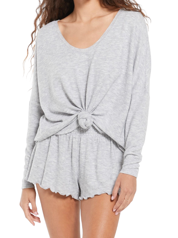 Z Supply Hang Out Lounge Grey Top