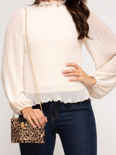 Pleated Cream Woven Blouse