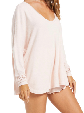 Z Supply Hang Out Lounge Rose Top