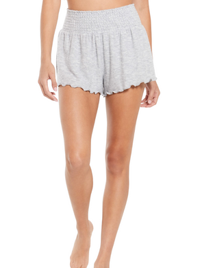 Z Supply Lounge Dawn Grey Smocked Shorts