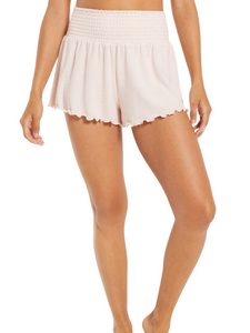 Z Supply Lounge Dawn Rose Smocked Shorts