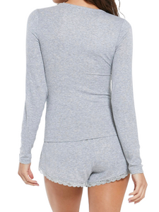 Z Supply Grey Go To Long Sleeve Lounge Top