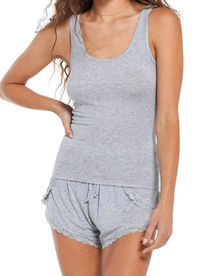 Z Supply Grey Easy Does It Lounge Tank