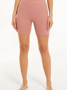 Z Supply Lounge Clara Rib Rose Bike Short