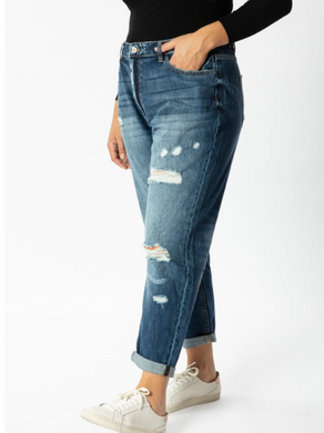 Kancan Benny Plus High Rise Girlfriend Jeans