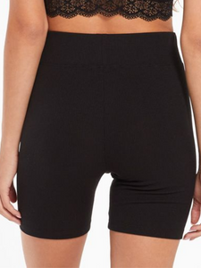 Z Supply Lounge Clara Rib Black Bike Short