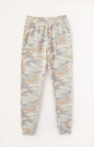 Z Supply Lounge Cozy Camo Waffle Joggers