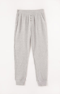 Z Supply Lounge Cozy Grey Waffle Joggers