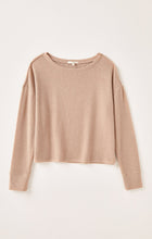 Z Supply Cocoa Leila Lounge Rib Long Sleeve