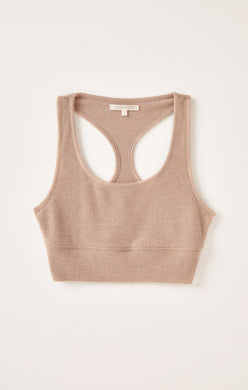 Z Supply Cocoa Sia Lounge Rib Tank Bra