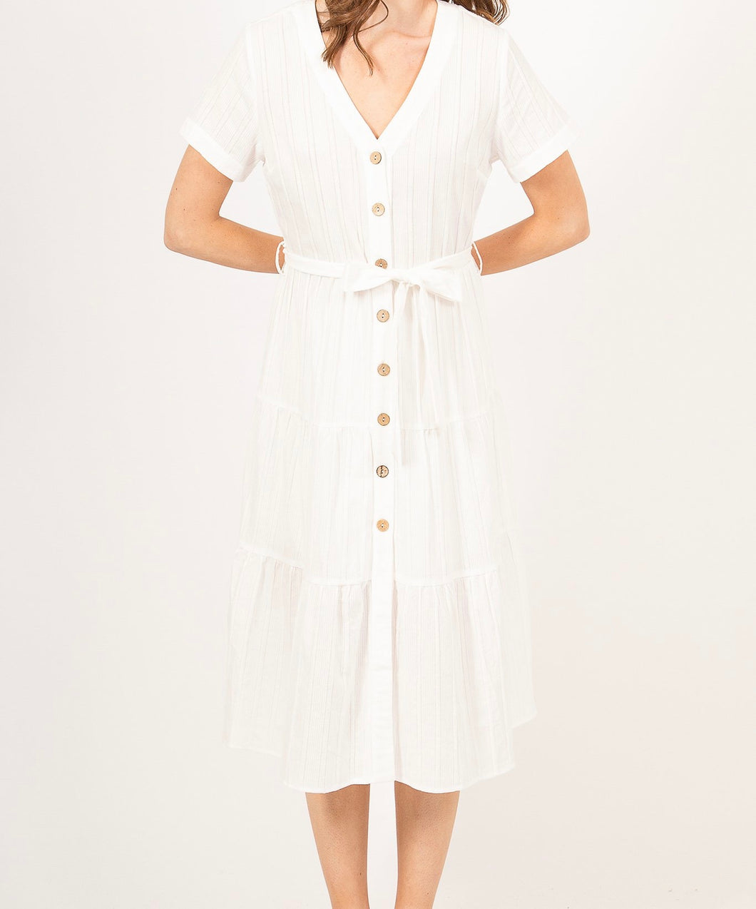 Southern Girl Midi Dress White