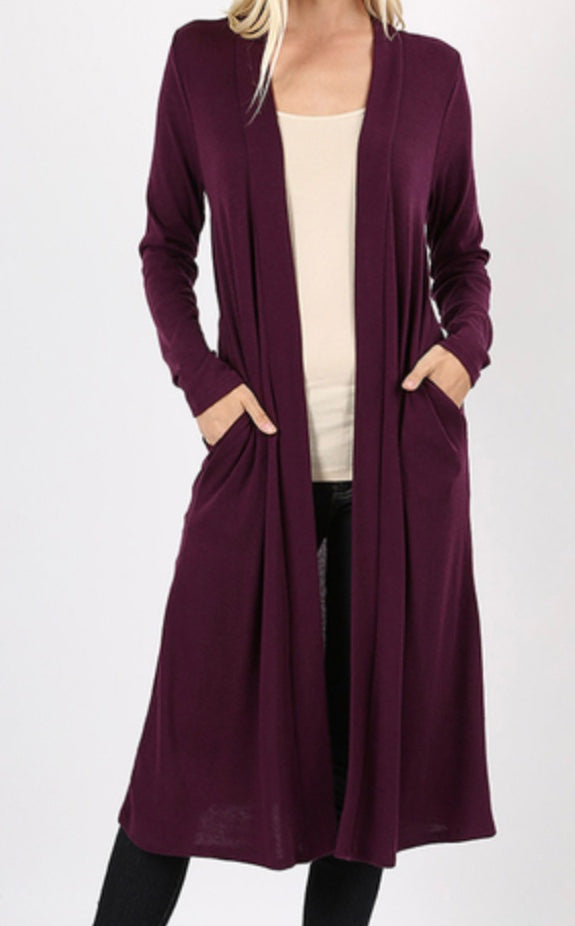 Long Sleeve Duster- More Colors!