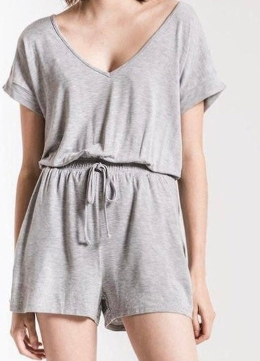 Z Supply Jersey Romper Gray or Black