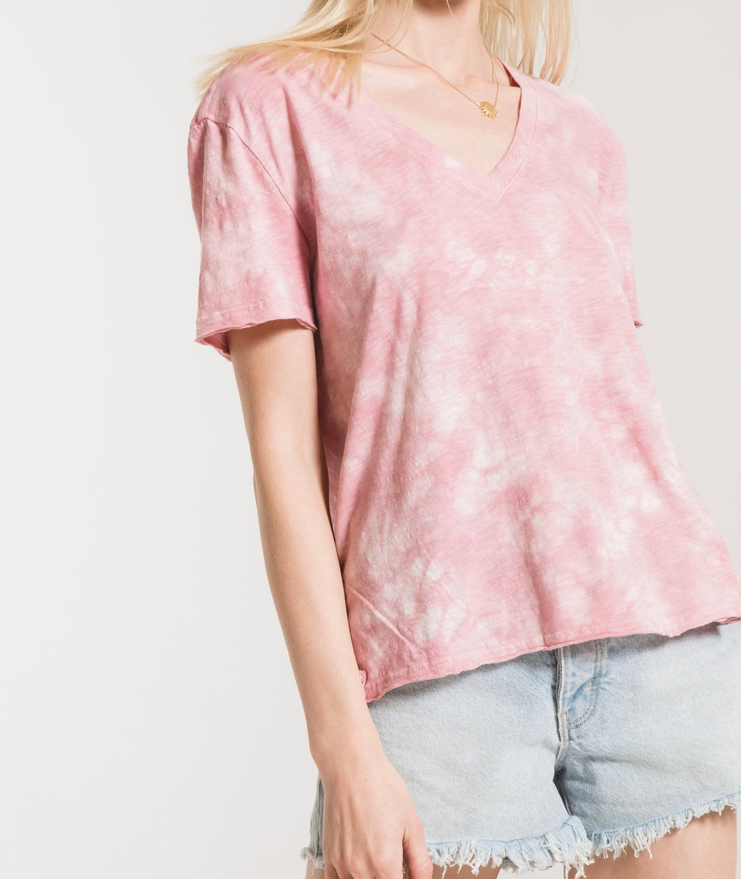 Z Supply Cloud Pink Tie Dye Tee