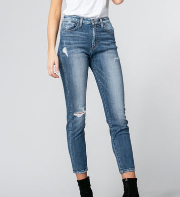 Luna Distressed Cropped Jeans