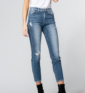 Flying Monkey Luna Distressed Cropped Jeans