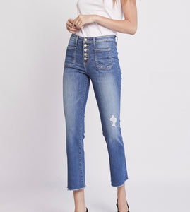 Flying Monkey Ava Patch Pocket Flare Jean