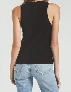 Z Supply Sierna Rib Black Tank