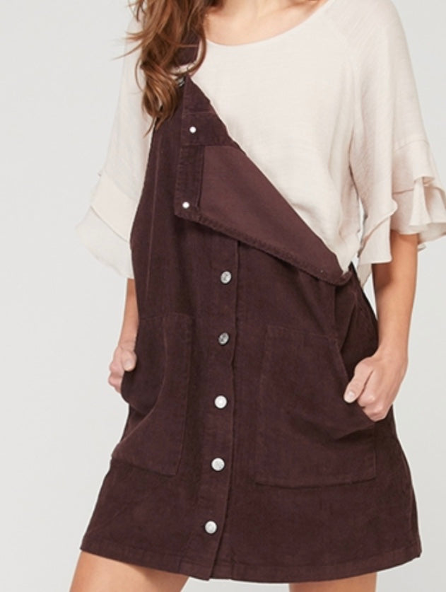 Justice Corduroy Overall Dress