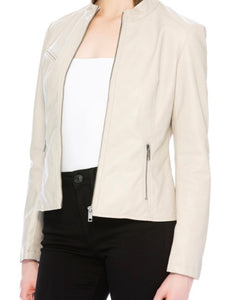 Raven Sleek Vegan Leather Jacket