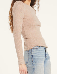 Z Supply Kaiya Rib Latte Long Sleeve