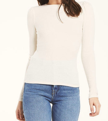 Z Supply Kaiya Rib Bone Long Sleeve Top