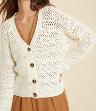 Kai Cream Button Down Cardigan