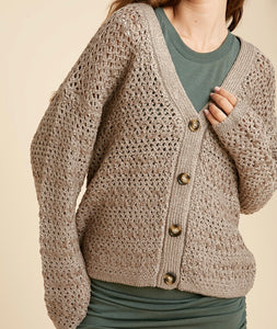 Kai Mocha Button Down Cardigan